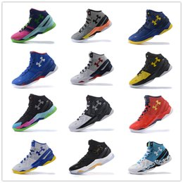Wholesale Green Outdoor Christmas Lights - Under Armour Curry Two Northern Lights Sport Men Basketball Shoes Final Curry On Foot Outdoor Athletic Cushion Sneakers