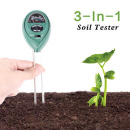 Baterias leves on-line-3 Em 1 Soil Tester Com Medidor de Umidade, Luz e PH Teste de Acidez Leve Material Plástico Sem Bateria Verde Necessário