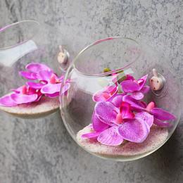 vasi di testa all'ingrosso Sconti Calda parete di vetro appeso vaso bottiglia per contenitore di terrari fiore pianta per Xmax regalo fai da te casa decorazione di nozze favore