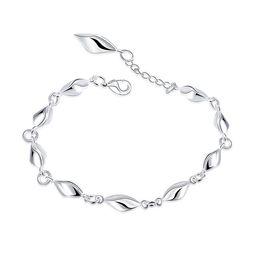 38f325ef5 Wedding gift!Female Japanese and Korean fashion and 925 silver bracelet  JSPB447; Hot sale girl women sterling silver plated Charm Bracelets