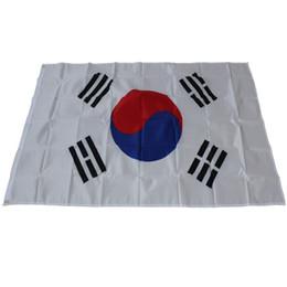 korea zuhause dekorationen Rabatt Große Größe 90 * 150 cm 3x5ft Südkorea Flagge - Polyester Taegeukgi Korean Nationalflaggen Banner für Parade Festival Home Yard Dekoration