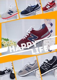 Wholesale Woman Shoes Shop - 2018 Free shop 574 For Men Women Casual Flat Shoes Sneakers balanced Unisex Zapatillas Walking Shoes Sport Running Shoes Trainers 36-48