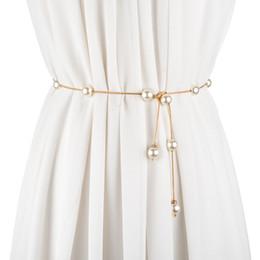 e2c4e065621d Moda cinturones finos para las mujeres decoración vestido mujeres cinturón  ceinture femme cinturón de cadena de imitación de perlas NJ080