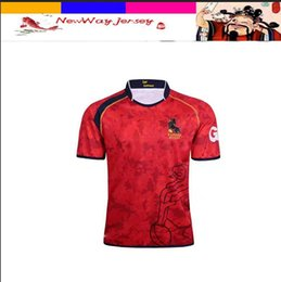 Wholesale spanish suit - New Spanish national football team Rugby suit S-XXXL
