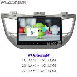 Wholesale Android Car Radio Hyundai - HD 1080P Android 6.0 Car DVD Player for Hyundai tucson 2015 2016 2017 with Radio BT WIFI SWC GPS free map