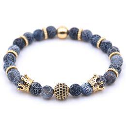 Pietra lazuli online-2018 Charm Bangle Bracelet Multistyle Bracciale con perline in pietra naturale Lapis Lazuli Woman Man pulseras