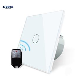 2019 interruttori luminosi livolo LIVOLO Intelligent Remote Switch Switch Applique da parete Touch con Mini Controller Wall Light Remote Touch Switch temperato Vetro Spedizione gratuita interruttori luminosi livolo economici