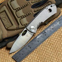2019 equipo de senderismo táctico Distrito 9 original E170 14C28N cuchilla mango de titanio Tactical cuchillo plegable acampar al aire libre engranaje de supervivencia Senderismo herramientas de caza EDC cuchillos equipo de senderismo táctico baratos