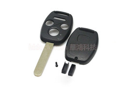 Wholesale honda keys cut - auto key for honda key shell 3+1buttons with sticker(with chip positions and without chip positions 2in1)easy to cut copper-nickel