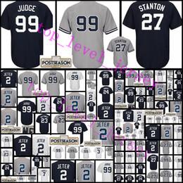 Wholesale Blue Don - #99 Aaron Judge 27 Giancarlo Stanton jersey Men's 23 Don Mattingly 24 Gary Sanchez 7 Mickey Mantle stitched Baseball Jerseys