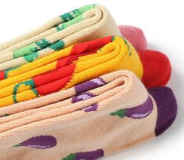Calze modello ragazza online-Calzini della ragazza Coreana Cute Tube Nuovi prodotti creativi Coppia calze di verdure Calze di cotone fresche Modelli di coppia Calze