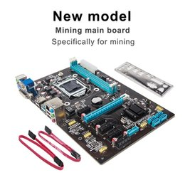 Wholesale Ps2 Dvi - High Quality New PCI Express 16X Mining Main Board Computer Main Board Onboard Network Card 6pcs Graphics Card Slot