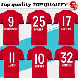 497dd9f6113d 2019   25 MULLER дома футбол Джерси 18 19 домашняя красная футбольная  рубашка Индивидуальные   11 JAMES   9 LEWANDOWSKI Бавария Мюнхен Футбольная  форма ...