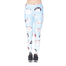 Disegno donna di stampa online-Lady Leggings Drawing Cats 3D Graphic Print Pantaloni attillati skinny da donna Allenamento completo per tutta la lunghezza Pantaloni capris Yoga (YX43209)