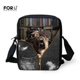 Funktionale Taschen Forudesigns Bulldog Lunchpaket Kid Cartoon Kinder Lunchbox Mädchen Geschenk Tiere Druck Schulter Lunchbox Casual Picknick-box Für Jungen