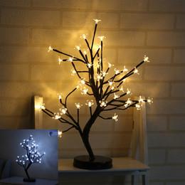 Искусственный цветок цветения сливы онлайн-Светодиодные Декоративные лампы моделирование Plum Blossom растение в горшке искусственные цветы Night Light для Рождественская вечеринка свадебные украшения 38yd УУ