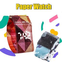 Reloj de papel digital online-Reloj de papel inteligente digital de moda pulsera magnética Casual reloj LED material impermeable Tyvek regalo para hombres mujeres niños
