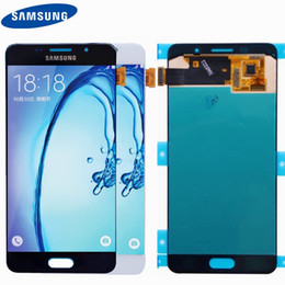 2019 a5 display lcd SUPER AMOLED 5.2 '' originale per Galaxy A5 2016 A510 A510F A510M A510FD Display LCD con Touch Screen Digitizer Assembly sconti a5 display lcd