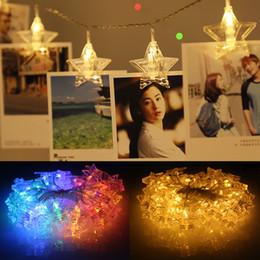 Ko online-1,5 Mt 3 Mt Sterne LED Weihnachtsbaum Decor Licht Wand Foto Clip Halter Beleuchtung String New Year Party Hochzeit Dekoration Fee Batterie