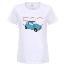Wholesale Vintage Car Prints - Fiat 500 - Classic Vintage Car T-Shirt