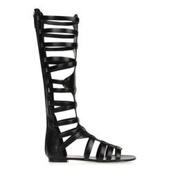 Argentina Tallas grandes 35-42 zapatos mujer 2018 nuevos dedos de los pies abiertos y recortados botas de verano sandalias botas stiefel mujer botas zapatos planos supplier sexy flat open toed sandals Suministro