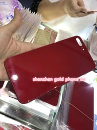 Wholesale apple product quality - high quality Back Cover Housing For iPhone 6 6s 6p Like 8 red product style Aluminum Metal Back Battery Door Cover Replacement