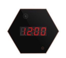 Wholesale Home Security Touch - 1080P HD Wifi Wall Desk Table Clock Camera Night Vision Home Security Camera Wide Angle Lens Motion Activated Touch Light Wireless Nanny Cam
