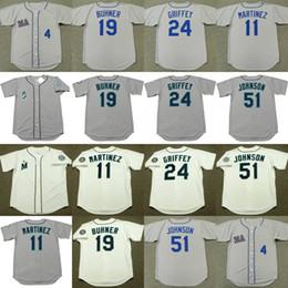 Wholesale randy custom - custom name Men Youth 1997 1992 51 RANDY JOHNSON 24 KEN GRIFFEY JR. 19 JAY BUHNER 19 JAY BUHNER 11 EDGAR MARTINEZ baseball jersey