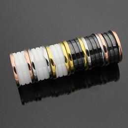 ganze saleBrand 316L Edelstahl Mode Schwarz und Weiß Keramik Ringe Frauen Männer Hochzeit Jewlery Paar breiter Bulgarien Ring von Fabrikanten