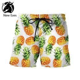 swim pants Australia - 2018 Summer Wear Swimming Trunks Originality Pineapple Printing Sandy Beach Pants Tide Brand Street Leisure Time W Hot Sale shorts for men