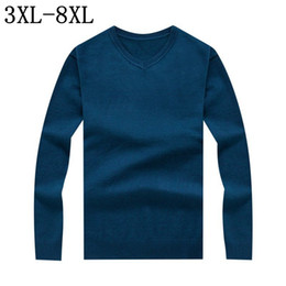 Wholesale 6xl Men Sweaters - 2017 New Autumn Winter Casual Mens Knitted Sweaters Brand Clothing Slim Fit Men Sweater Pullovers Male Knitwear Size 6XL 7XL 8XL