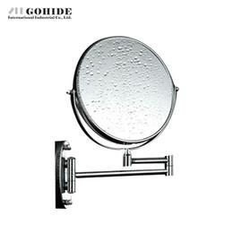 2019 espejo de doble cara DUH A Decoration Makeup Mirror Cosmetic Double Faced Mirror Cuarto de baño montado en la pared redonda mosaico decorativo con luz rebajas espejo de doble cara