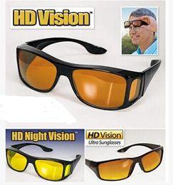 2019 антибликовые линзы HD ночного видения вождения солнцезащитные очки мужчины желтый объектив над обернуть вокруг очки темное вождение UV400 защитные очки анти-блики дешево антибликовые линзы