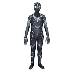 Wholesale Wholesale Zentai Suits - Party clothing Black Civil War Costume cosplay 3D Shade Cosplay zentai Suit Halloween Party Superhero Costume free shipping