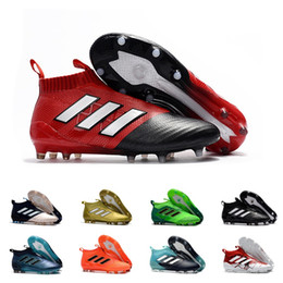 Wholesale gold tango shoes - Adidas 2018 ACE 17+ PureControl FG Dragon Best Quality Outdoor Football Shoes ACE Tango 17+ Purecontrol Soccer Boots Football Cleats