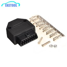 Wholesale female terminal - OBD2 16Pin Female Connector OBDII J1962F Shell Adapter OBD Connector Plug+Shell+Terminal+Screw Diagnostic Tool FREE SHIPPING