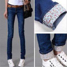 Argentina Otoño nuevos modelos Dos puños gastados Jeans Mujer Pantalones casuales Pantalones lápiz Pantalones vaqueros Mujer Pantalones vaqueros de cintura alta Suministro