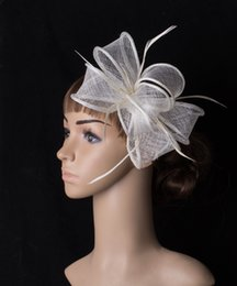 Wholesale fascinator gold - 21 colors fashion sinamay headdress material fascinator headwear photographic studio hair accessories suit for all season MYQ092