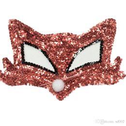 2019 máscaras de damas para bola de mascarada Lady Halloween Half Face Maks Masquerade Costume Women Ball Lentejuelas Fox Mask Moda Adorno Creativo Pieza Adornos 3 5hj Ww máscaras de damas para bola de mascarada baratos