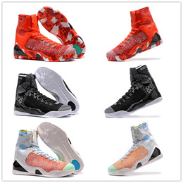 Wholesale High Top Training Shoes - New 2018 Wholesale Kobe KB 9 IX Elite Black Mamba Blackout Christmas High Top Men Basketball Sport Shoes Training Sneakers Size EUR 40-46