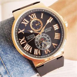 Top brand ULYSSE orologio da polso meccanico automatico da 44 mm Orologi da uomo di lusso famosi orologi Relogio orologio da polso ONU da
