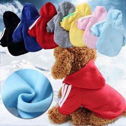 Argentina Invierno cálido mascota ropa para perros de dos piernas con capucha pequeños perros suéteres para cachorro de abrigo ropa para mascotas ropa para perros XS-XXL mk800 Suministro