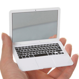 Wholesale mini mirror frame - MirrorBook Air White Mini Novel Makeup MirrorBook Air Mirror For Apple MacBook Shaped 88 H7JP DHL