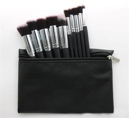 Maquillage chaud pinceau professionnel cosmétique Fondation BB Crème Poudre Blush 10 pièces Outils de Maquillage Noir / Blanc / Rose avec Pochette DHL ? partir de fabricateur