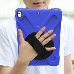 """Wholesale hybrid case for ipad - for Samsung Tab A 10.1""""P580 T550 T580 T585 Tab S2 T810 T820 Heavy Duty Hybrid Shockproof Case TPU Tablet PC & Protector with Stand hand belt"""