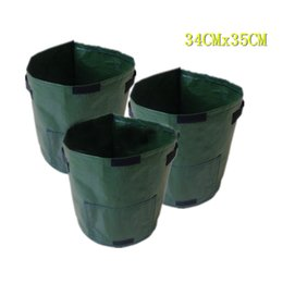 Wholesale Clamshell Wholesale - 45*35cm Planting Bags With Window Leakage Proof Garden Potato Grow Bag Felt Cloth Pots Clamshell Planters High Quality 7 8xs Z