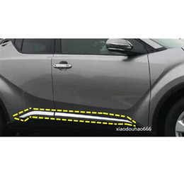 Hot Sale For Toyota C-hr 2016 2017 2018 Car Styling Accessories Stainless Chrome Side Door Car Body Molding Cover 4pcs Automobiles & Motorcycles
