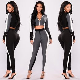 Wholesale pink long sweater dress - Sport Leisure Suit New Winter Sweater Dress suits Fashion Spring Women Pink Tracksuits Casual Short Sleeve Two-piece Jogger Set