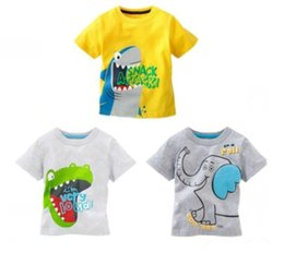 Wholesale Cartoon T Shirts For Kids - New baby kids boys cartoon cotton blouses tops casual sport T-shirt fit for baby age 1-6 years