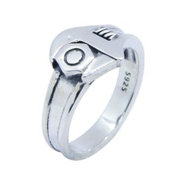 Wholesale spanner jewelry - Rany&Roy New Design 925 Sterling Silver Biker Wrench Ring S925 Jewelry Lady Girls Fashion Spanner Ring